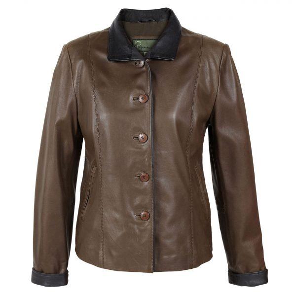 Ladies-leather-jacket-Lulu-Brown