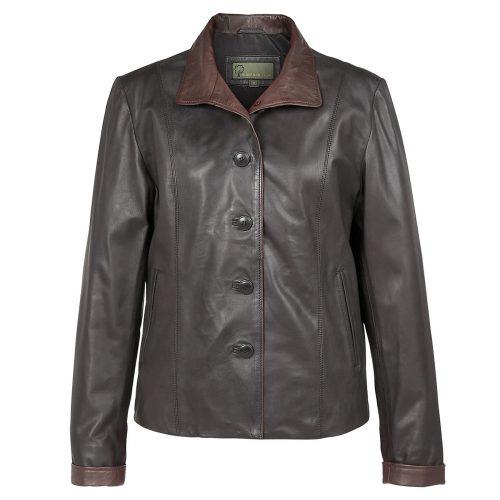Ladies leather jacket black Lulu