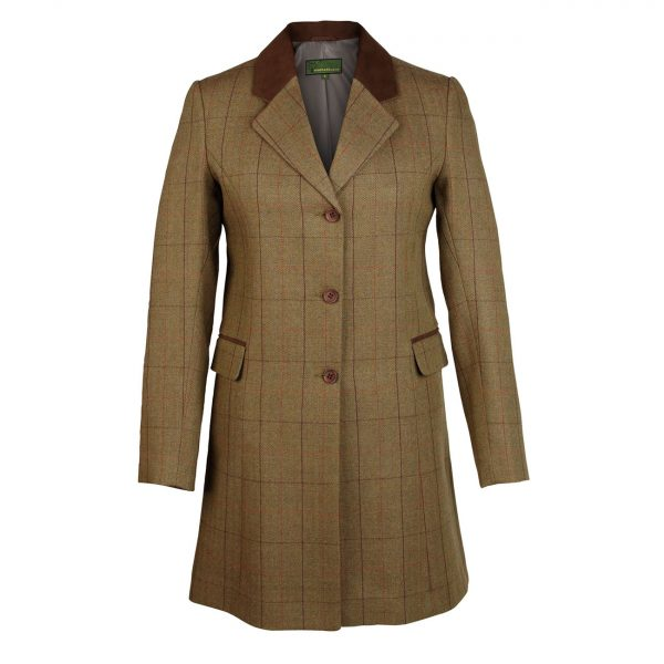 Ladies-long-Tweed-Coat-Brown-123-York
