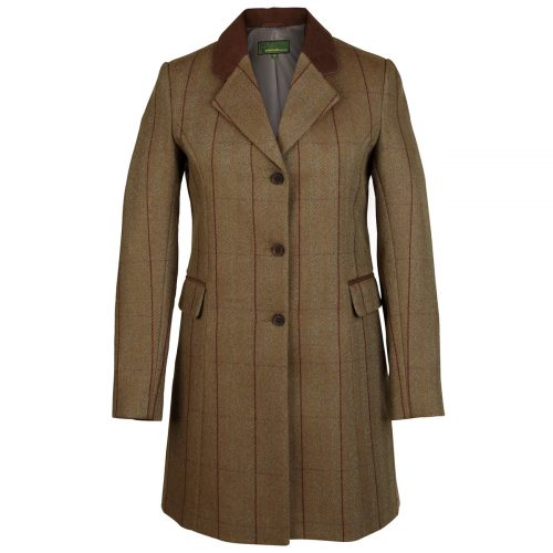 Ladies long tweed coat Brown  york