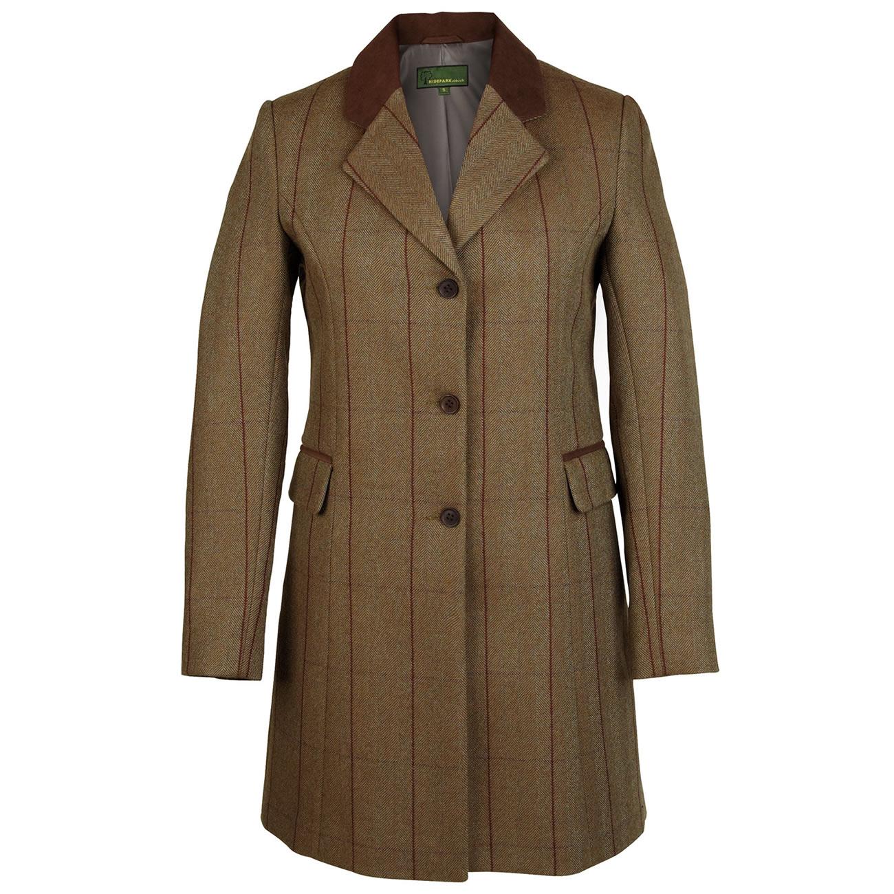 Ladies long tweed coat Brown  york