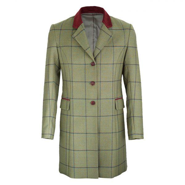 Ladies-long-tweed-coat-with-contrast-collar-107-York