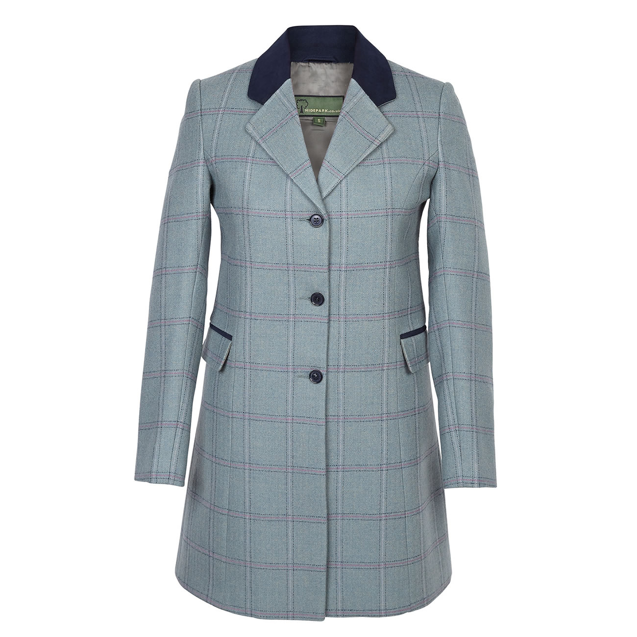 Long Tweed Coat York Blue