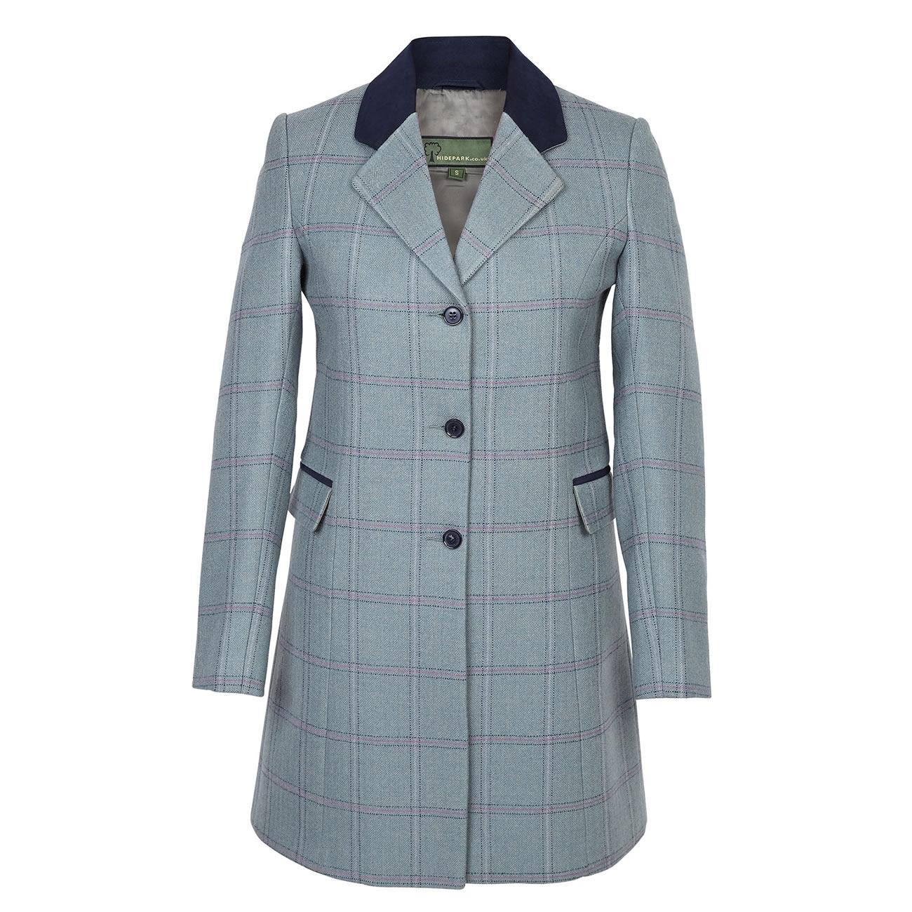 Long Tweed Coat York Blue