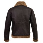 MensBrownsheepskinflyingjacketBbackimage
