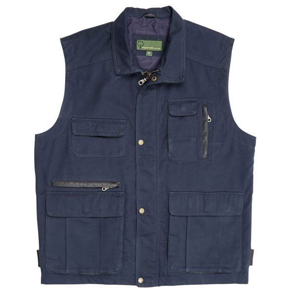 Mens-Canvas-Gilet-Navy-204c