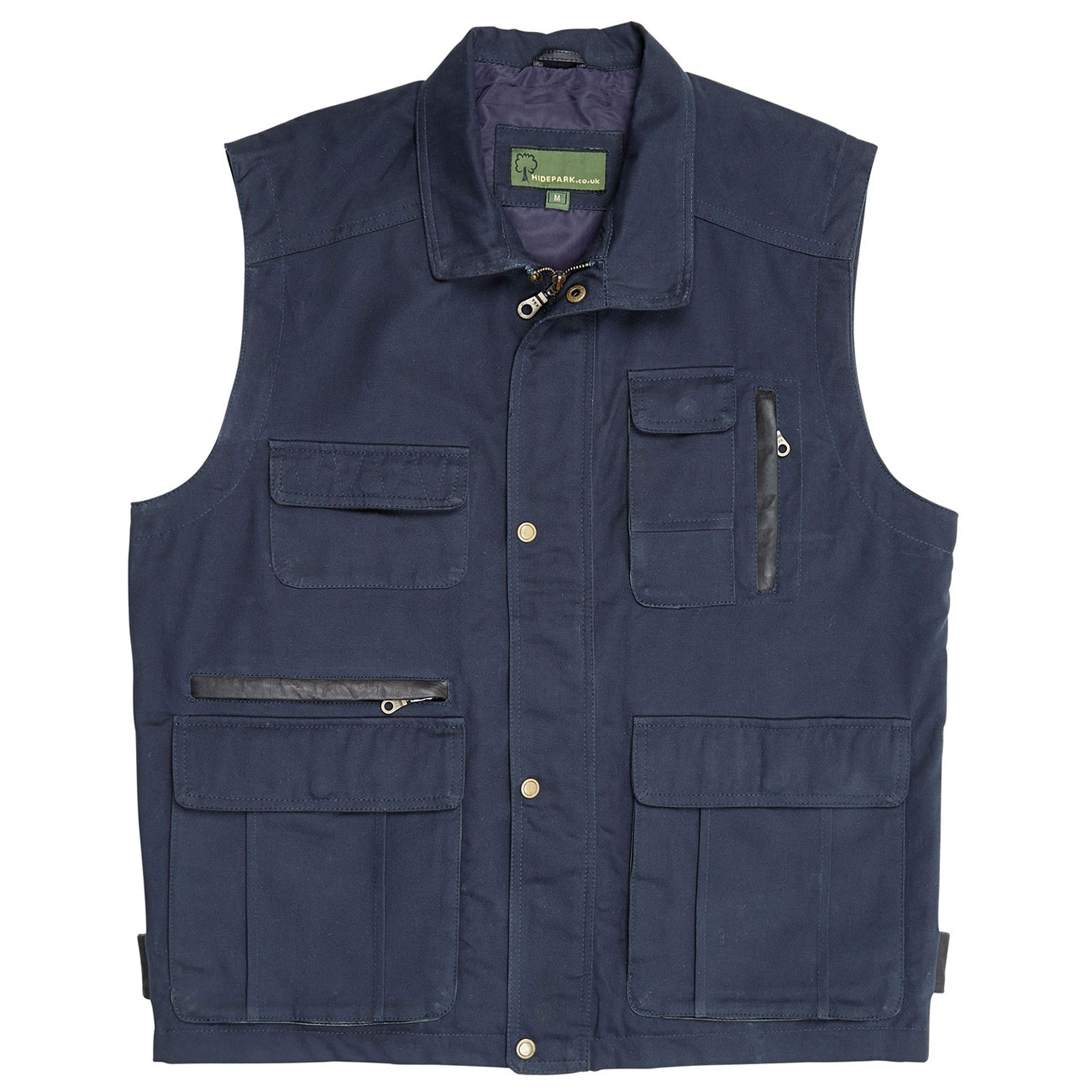 Mens Canvas Gilet Navy c
