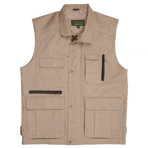 Mens Canvas Gilet  Tan c