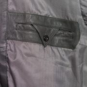 Mens Grey leather blouson  inside pocket