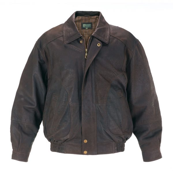 Mens-Leather-Blouson-Jacket-Brown-9853