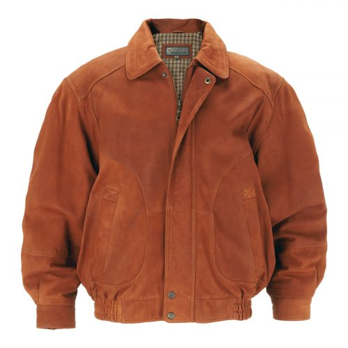 Mens Leather Blouson Jacket Tan