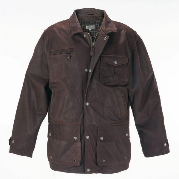 Mens-Leather-Coat-Brown-Peter