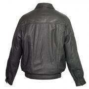 Mens Leather Grey blouson coat