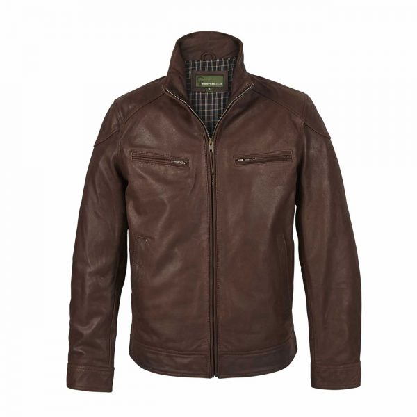 Mens-Leather-Jacket-Light-Brown-Matt