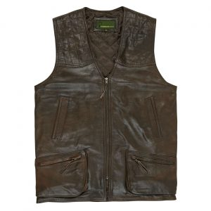 Mens Leather Shooting Vest AntiqueThorn