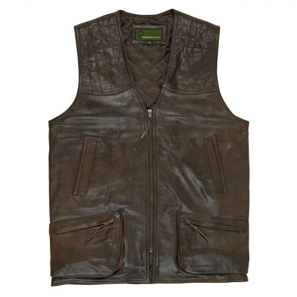 Mens-Leather-Shooting-Vest-AntiqueThorn