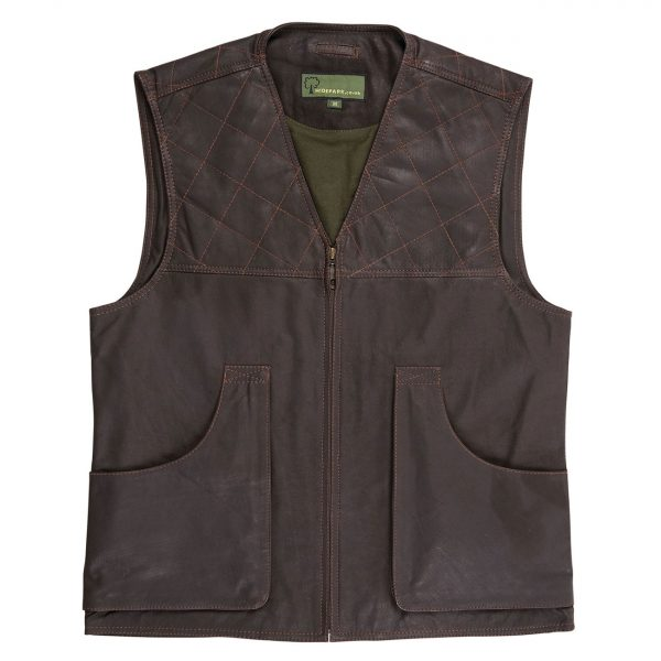 Mens-Leather-Shooting-Vest-G012-Brown