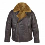 Mens Leather pilot jacket rust