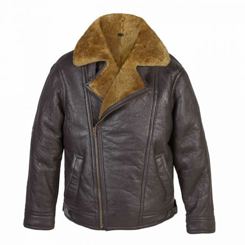 Mens Leather pilot jacket rust