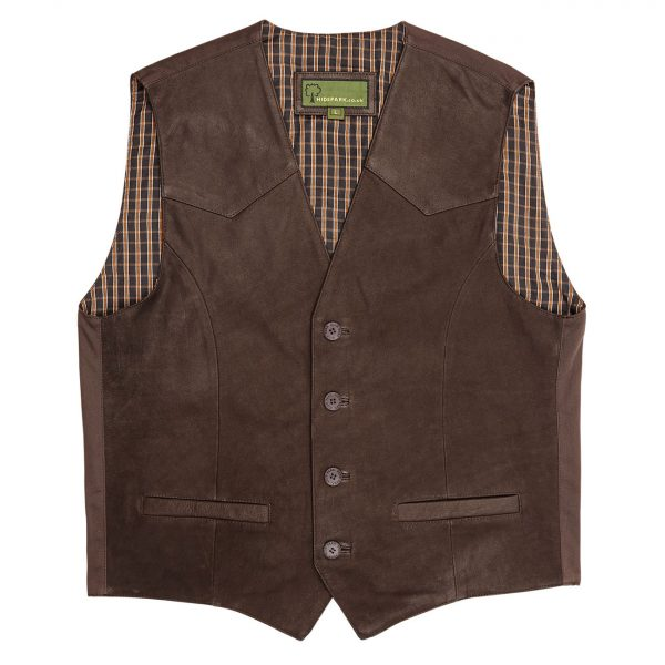 Mens-Leather-waistcoat-Brown-004