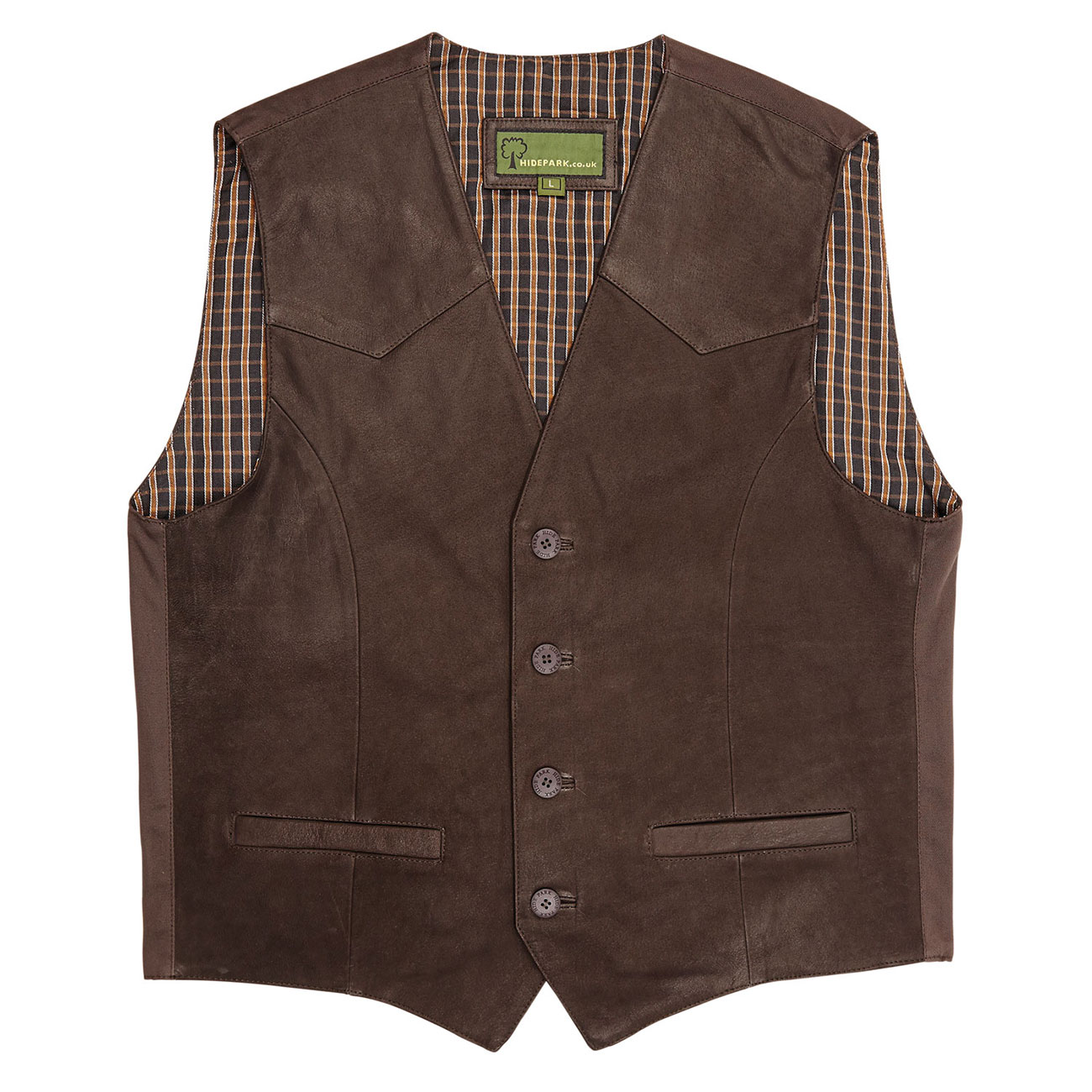 Mens Leather waistcoat Brown