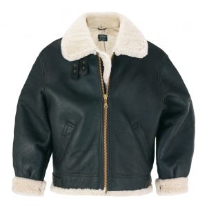 Mens sheepskin flying jacket Brown B