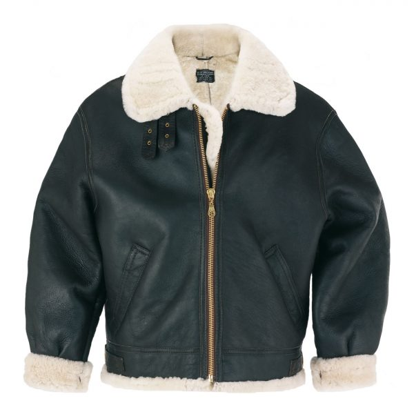 Mens-sheepskin-flying-jacket-Brown-B3