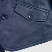 Ladies Blue BLazer pocket detail Jess