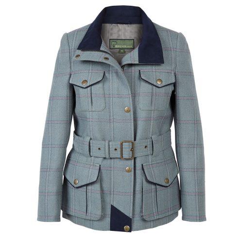 Tweed Coat Welby Blue