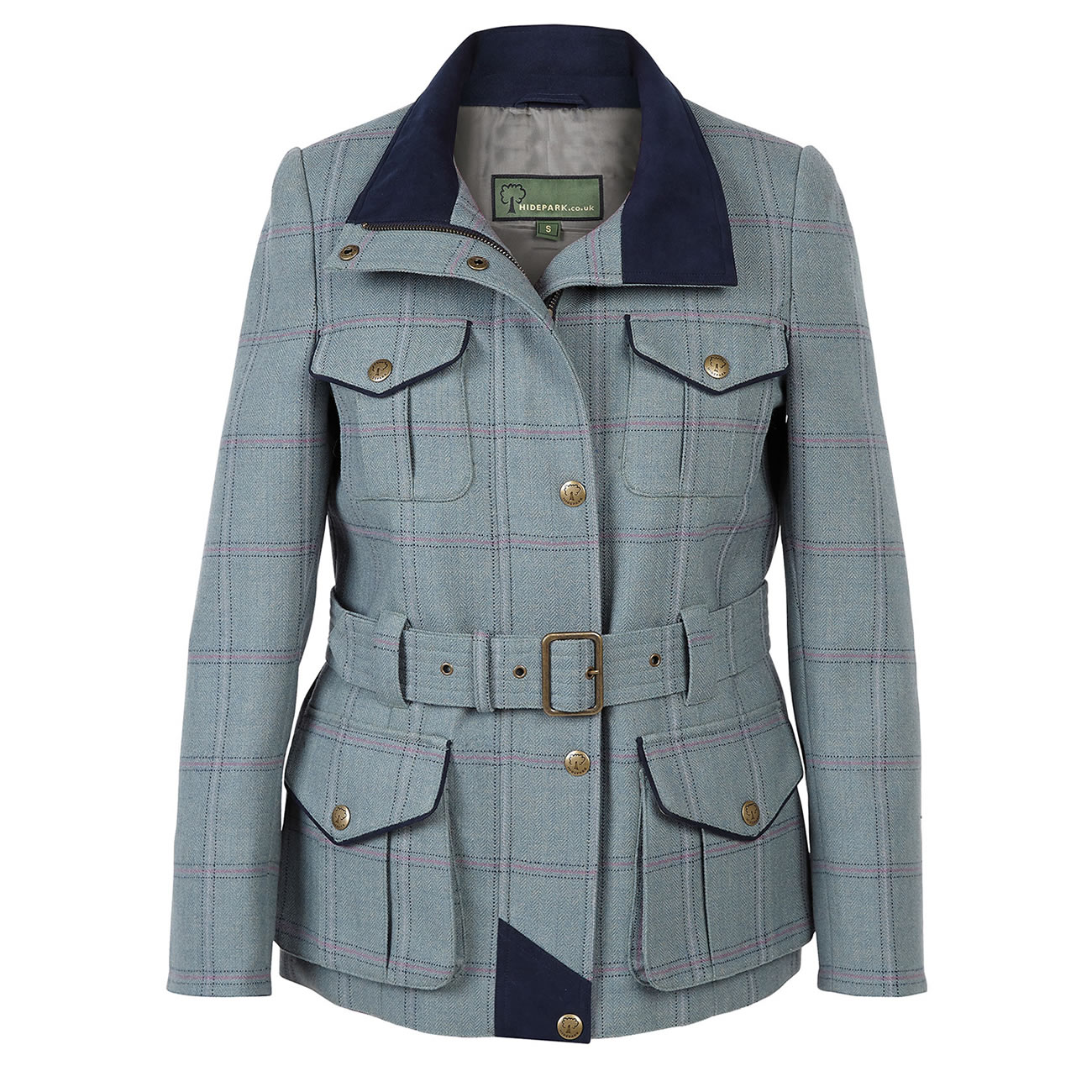 Tweed Coat Welby Blue