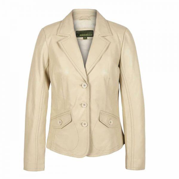 Womens-Leather-Blazer-Cream-Jess