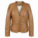 Womens Leather Jacket Tan Erin
