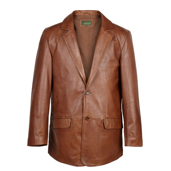 Gents Leather Blazer 728 Chestnut