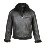 Men's Black Sheepskin Flying Jacket