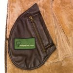 Holly sheepksin brown jacket inside pocket detail