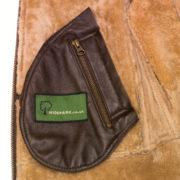 Holly sheepksin brown jacket inside pocket detail
