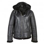 Ladies Black Sheepskin Flying Jacket Holly
