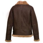 Ladies Brown Leather flying jacket holly