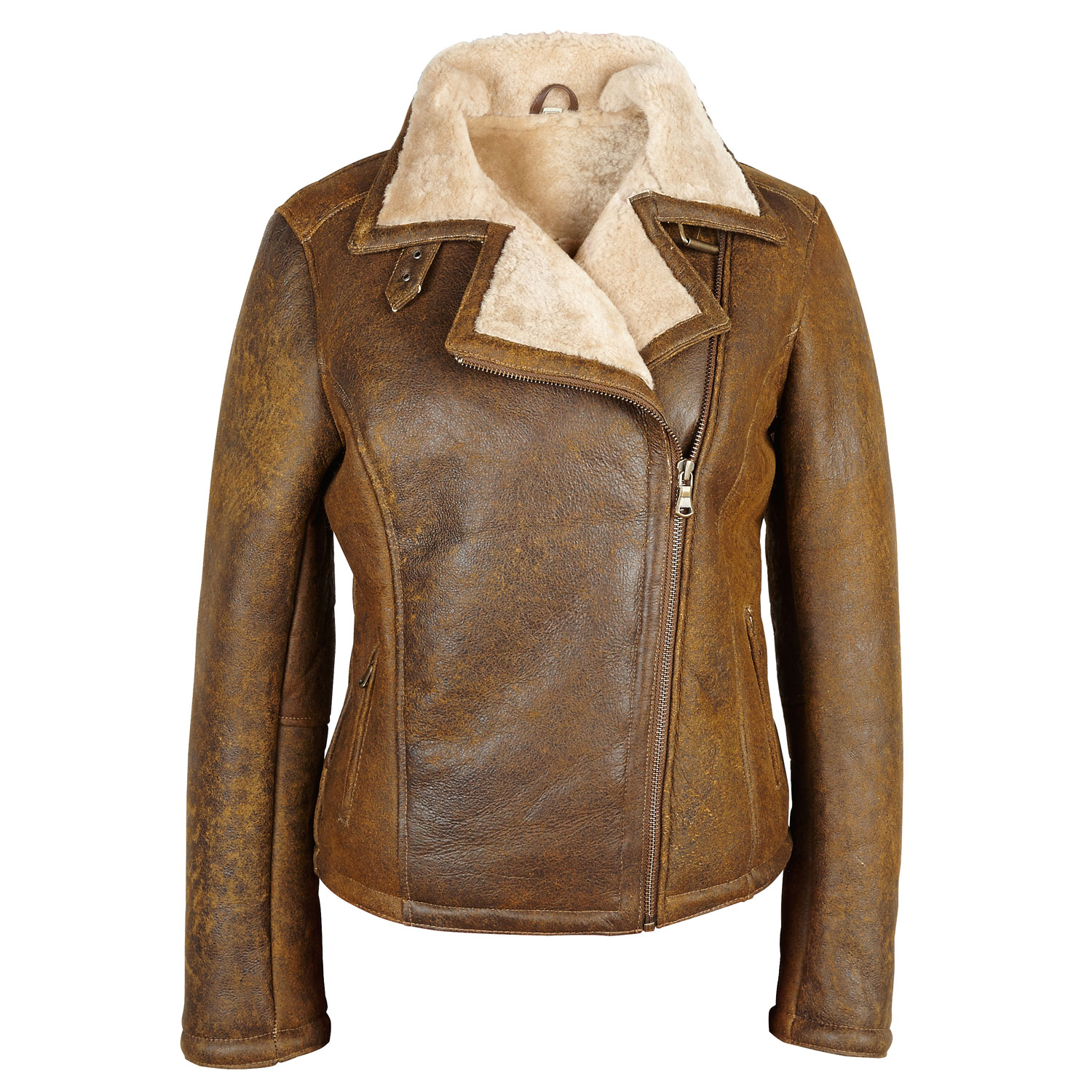 Sheepskin Ladies Jacket Tan Amy