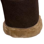 Womens Holly Brown sheepskin cuff detail