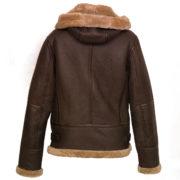 Womens flying jacket leather sheepskin hooded holly