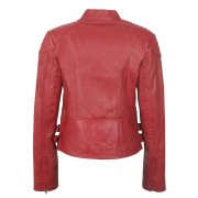 Womens Leather jacket Red Back detail