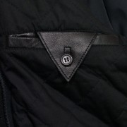 MEns Mason black leather jacket inside pocket