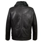 Gents Leather jacket BLack back Danny