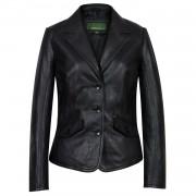 Womens Black leather blazer Jess