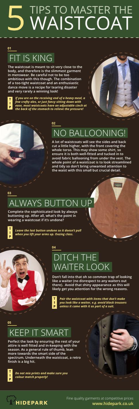 Waistcoat tips for men
