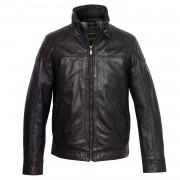 Gents Black Mac leather jacket