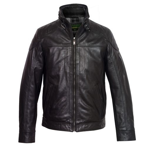 Gents Black Mac leather jacket