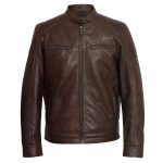 Gents Brown Leather jacket Budd