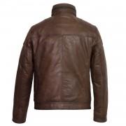 Gents Brown Leather jacket Mac Back